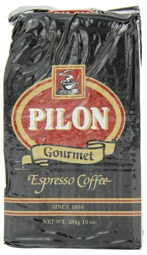 Pilon Restaurant Blend Espresso Coffees, 10 Ounce (Pack of 12)