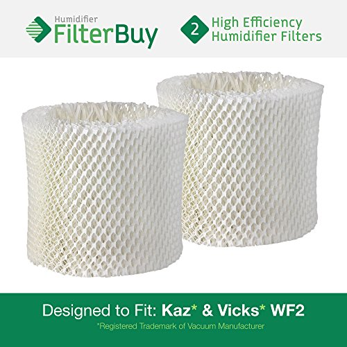2 - WF2 Kaz & Vicks Replacement Humidifier Wick Filters. Designed by FilterBuy in the USA. (Replacement Filter Kaz Wf2 compare prices)