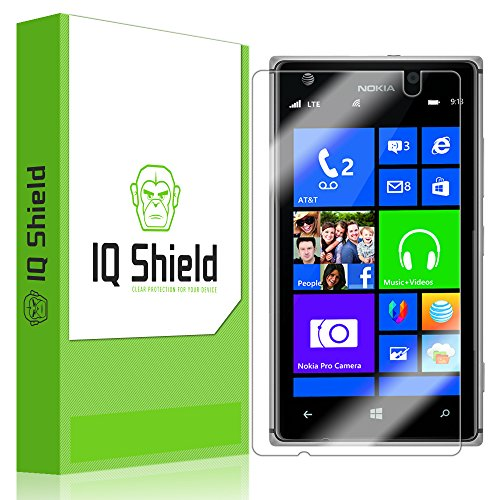 Iq Shield Liquidskin - Nokia Lumia 925 Screen Protector With Lifetime Replacement Warranty - High Definition (Hd) Ultra Clear Phone Smart Film - Premium Protective Screen Guard - Extremely Smooth / Self-Healing / Bubble-Free Shield - Kit Comes In Frustrat