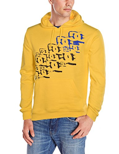 DC Shoes Men's Phipps Pull Over Hoodie-Yellow-Large