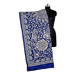 Darbari Women's Dupatta (OL-342_Blue_Free Size)