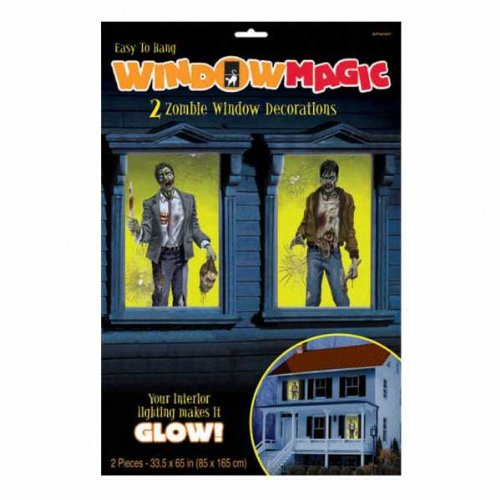 Zombie Window Magic Halloween Decorations 65 Inch