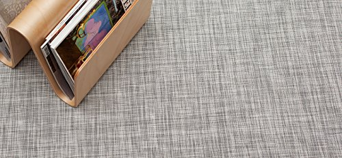 Chilewich Floormat Woven IKat White/Silver 72