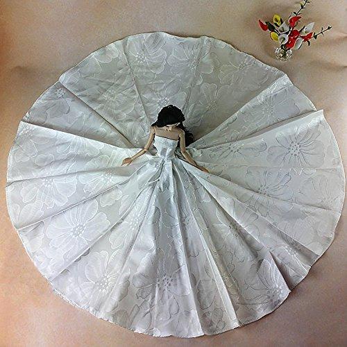 WayIn-Moda-hechos-a-mano-de-la-boda-del-partido-Ropa-vestido-vestido-de-traje-de-la-flor-de-la-mueca-de-Barbie-del-ocano