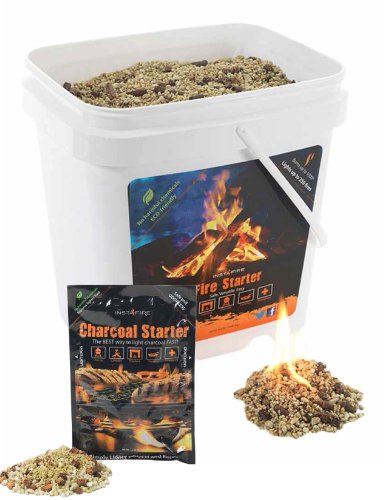 InstaFire Bulk Fire Starter, 2-Gallon Bucket plus 1 Pack of Charcoal Briquette Starter picture