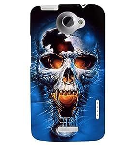 PRINTSWAG SKULL Designer Back Cover Case for HTC ONE X