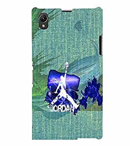PrintVisa Sports Basketball 3D Hard Polycarbonate Designer Back Case Cover for Sony Xperia Z1