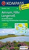 Amrum - Föhr - Langeneß: Wanderkarte mit Kurzführer und Radwegen. GPS-genau. 1:35000