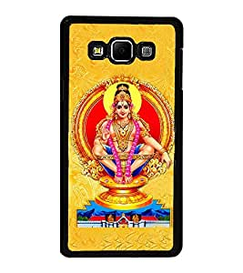 Fuson Premium 2D Back Case Cover Lord Ayappa With yellow Background Degined For Samsung Galaxy A8::Samsung Galaxy A8 A800F