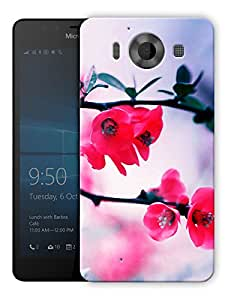 """Humor Gang Beautiful Flower Plant Printed Designer Mobile Back Cover For """"Nokia Lumia 950"""" (3D, Matte, Premium Quality Snap On Case)"""