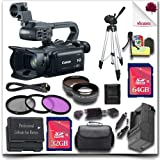 "Canon XA20 Professional Camcorder + 32GB SDHC Class 10 Card + 64GB SDHC Class 10 Card + SLR Gadget Bag + 57"" Tripod + Wide Angle Lens / Telephoto Lens + HDMI Cable + 3pc Filter Kit 19pc Canon Saver Bundle"