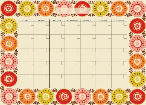 Brewster Wall Pops WPE99035 Peel & Stick Carnivalé Dry-Erase Monthly Calendar with Marker
