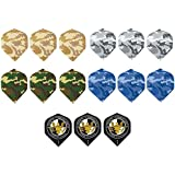 5 Sets (15 Pieces) Of Camo/Military Standard Size Dart Flights - Assorted Designs