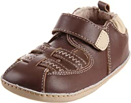 Robeez Mini Shoez Classic Fisherman Pre-Walker (Infant/Toddler),Brown,3-6 Months (2 M US Infant)
