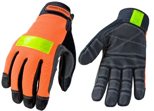 Youngstown Glove 03-3600-50-S Safety Orange Utility Performance Glove Small, Orange