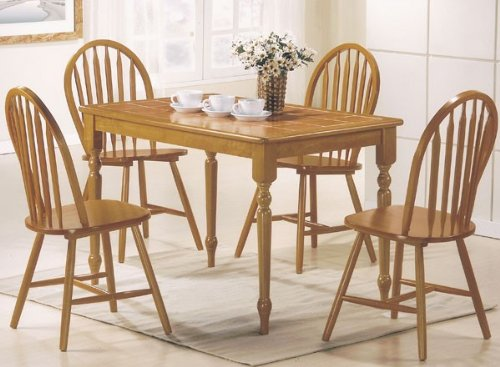 Buy Low Price Acme Furniture 5pc Dining Table Chairs Set Natural Finish