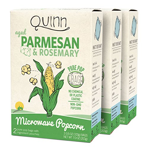 Quinn Popcorn Microwave Popcorn - Made with Organic Non-GMO Corn - Great Snack Food for Movie Night {Parmesan & Rosemary, 3 Boxes} (Gourmet Popcorn Microwave compare prices)