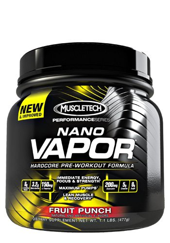 Muscletech Nano Vapor Perforamance Series, Fruit Punch, 1.14 Lb., Pre-Workout Powder With Citrulline Mallate
