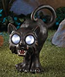 Halloween Solar Garden Statue _Black Cat