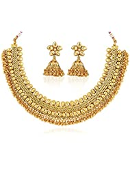 Bollywood Inspired Stylish Gold Plated Traditional Necklace Set/ Jewellery Set With Earrings Women By Royal Bling