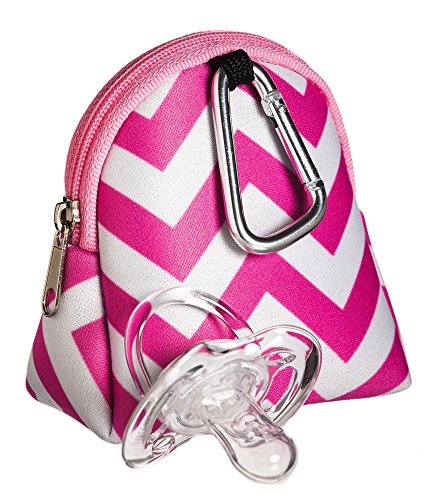 Pink Chevron Pacifier Holder - 1