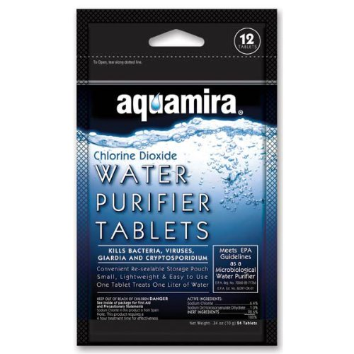 Mcnett Aquamira Water Purifier Tablets 12 Pk Durability 6 stages uf water purifier