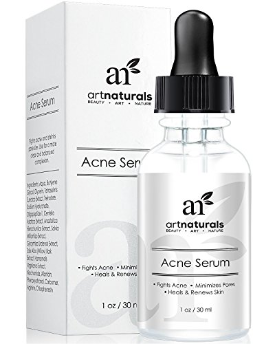 Art Naturals® Anti Acne Serum Treatment 1 oz- Dermatologist Tested Product, Organic Ingredients to Help Control & Get Rid of Acne - Best Pore Minimizer -For all Ages