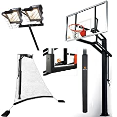 Goalrilla GLR GSI 72 Basketball System with Deluxe Hoop Light,Return Net, Backboard... by Goalrilla
