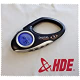 HDE Electronic Travel Digital Compass With Time Temperature And Carabiner Clip