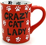 Our Name Is Mud by Lorrie Veasey Crazy Cat Lady Mug, 4-1/2-Inch