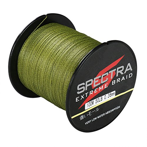 Spectra 100 pe braided fishing line 6 300lb test army for Spectra fishing line