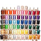 63 Brother Colors Embroidery Machine Thread (Color: Assorted)