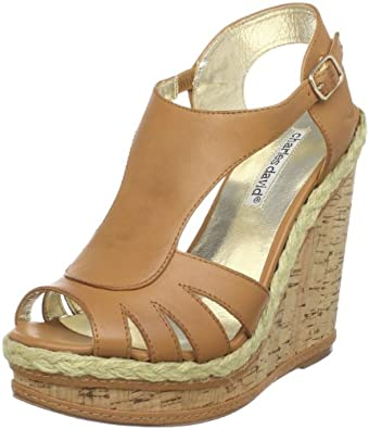 Charles David Women's Granite Wedge Sandal,Camel,7 M US