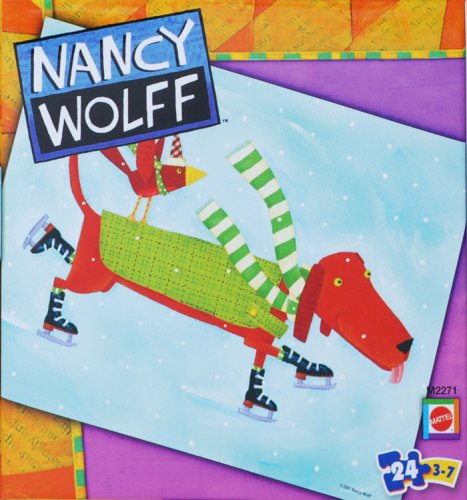 Nancy Wolff  Dog iceskating 24 piece Puzzle