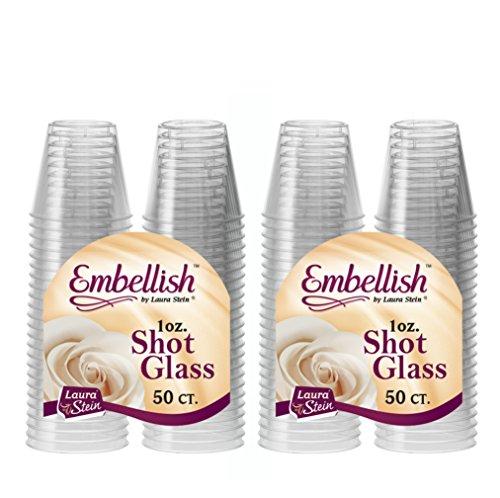 Embellish Hard Plastic 1oz Clear Shot Glass 100 count