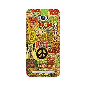 Ebby Hippy Peace Premium Printed Case For Asus Zenfone Max