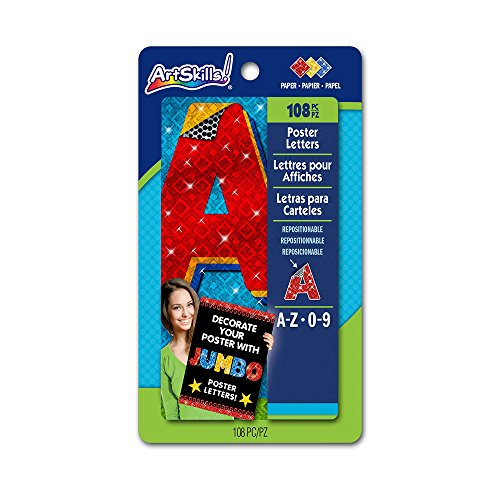 Artskills jumbo poster letters and numbers a z and 0 9 for Posterboard letters