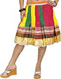 Exotic India - Falda - para mujer multicolor Tri Color