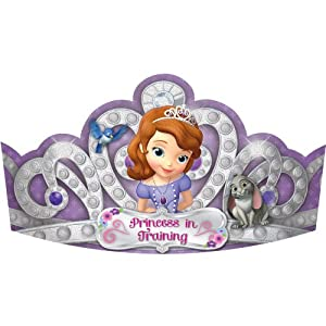Sofia the First Tiaras (8) Paper Party Hat Princess Disney Birthday Crown from Amscan