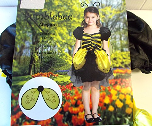 Bumblebee Bumble Bee Child Costume Wings 8-10 NIP