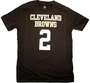 Johnny Manziel #2 Cleveland Browns NFL Name & Number Team T-Shirt, Brown, Youth... by NFL Team Apparel