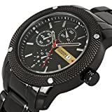Luxury New Curren Army Black Stainless Steel Date Sports...