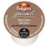 Folgers Gourmet Selections Mocha Swirl Flavored K-Cup Packs, 12 Count (Pack of 6)