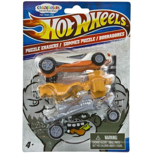 Hot Wheels X CrazErasers: Collectible Puzzle Erasers Series #1 [C9772002] - 1