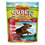 Zukes Supers All Natural Nutritious Soft Superfood Dog Treat, Yummy Berry Blend, 6-Ounce