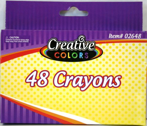 CREATIVE COLORS 48CT CRAYONS - 1