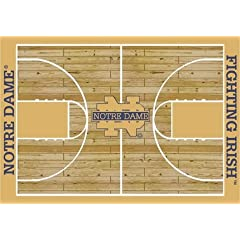 Notre Dame Fighting Irish 7 8 x 10 9 Home Court Area Rug by Milliken