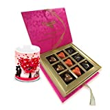 Valentine Chocholik Belgium Chocolates - Love Begins With Love Chocolates And Love Mug Combo