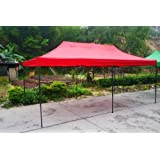 EG-Tech Canopy Tent 10x20 foot Red Party Tent Gazebo Canopy Commercial Fair Shelter Car Shelter Wedding Party Easy Pop Up - Red