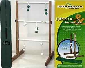 Ubergames Leitergolf Laddergolf Professional Set aus ECO Massivholz, mit echte Golf Bolas
